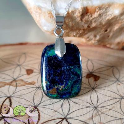 Pendentif Azurite-Malachite
