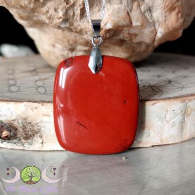 Pendentif Jaspe rouge