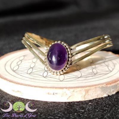 Bracelet bronze & Améthyste