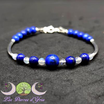 Bracelet Lapis-Lazuli & Labradorite