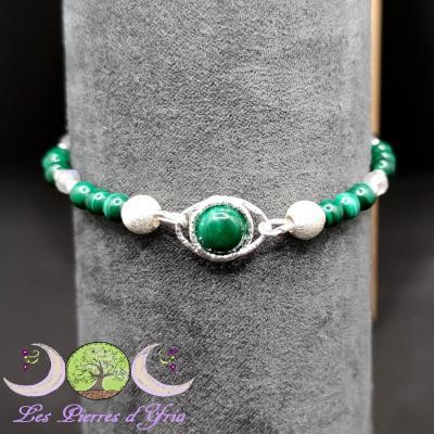 Bracelet Malachite & Labradorite