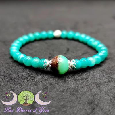Bracelet Amazonite & Chrysoprase
