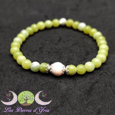Bracelet Serpentine & Scolécite