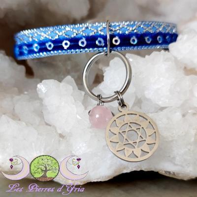 Pendentif Quartz rose - Chakra coeur (pour chien & chat)