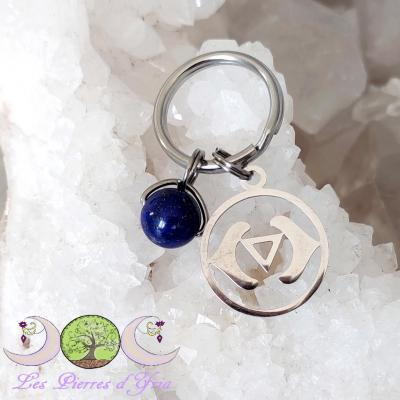 Pendentif Lapis-lazuli - Chakra 3e oeil (pour chien & chat)