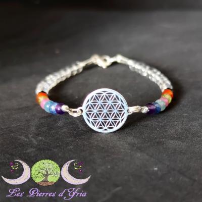 Bracelet 7 Chakras & Fleur de Vie