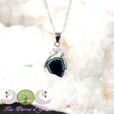Pendentif Tourmaline bleue