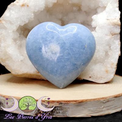 Coeur Calcite bleue