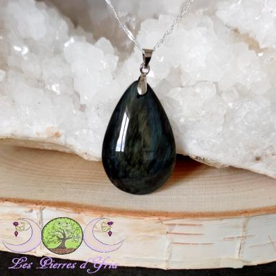 Pendentif obsidienne Mentogochol [Manta Huichol] #29