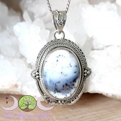 Pendentif Opale Dendrite