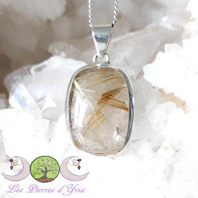 Pendentif quartz rutile
