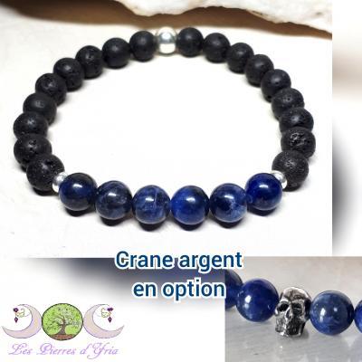 Bracelet Pierre de Lave & Sodalite