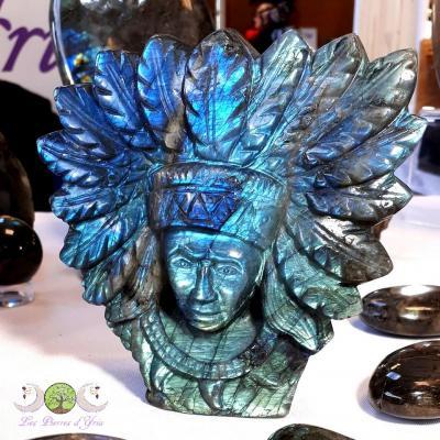 Sculpture Améridienne en Labradorite