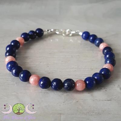 Bracelet Lapis-lazuli & Rhodochrosite
