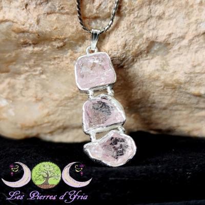Pendentif Morganite (cristaux purs) #1