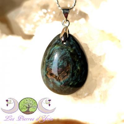 Pendentif obsidienne Mentogochol [Manta Huichol] #32