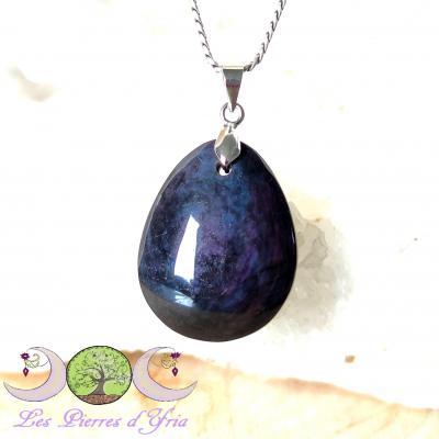 Pendentif obsidienne Mentogochol [Manta Huichol] #36