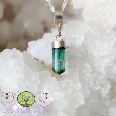 Pendentif Cristal brut Tourmaline bleue #6