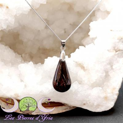 Pendentif Obsidienne Acajou #2
