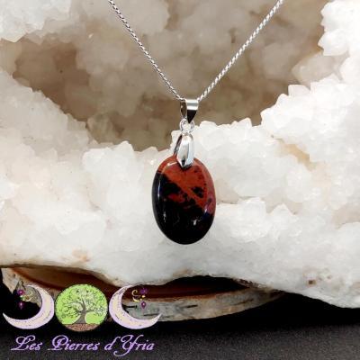 Pendentif Obsidienne Acajou #5