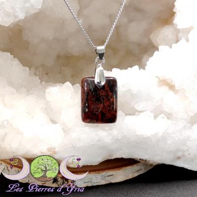 Pendentif Obsidienne Acajou #8