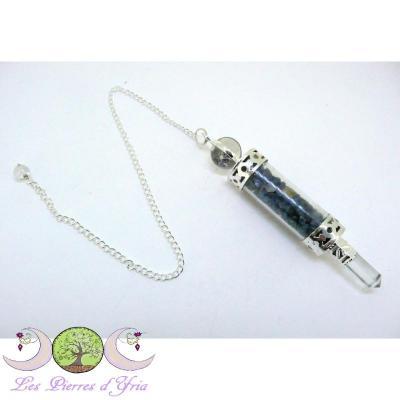 Pendule générateur Saphir & Cristal de roche