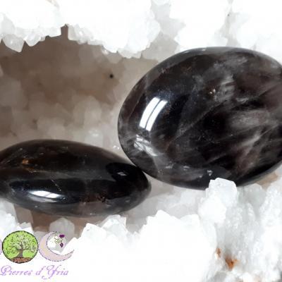 Quartz Morion [Madagascar] - Galet 75 à 85g