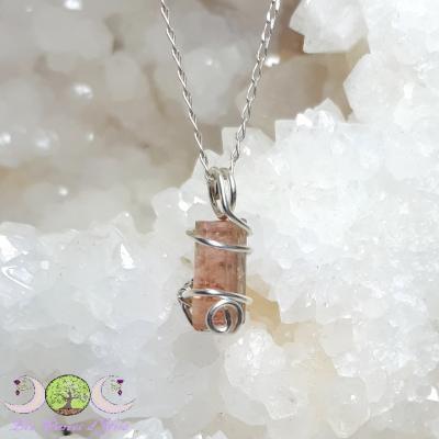 Pendentif cristal Tourmaline Melon d'Eau & Argent